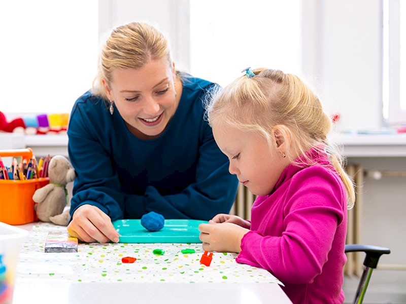 Girl Educational Therapy