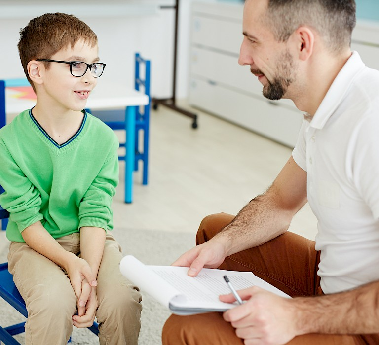 educational, therapy, boy, therapist